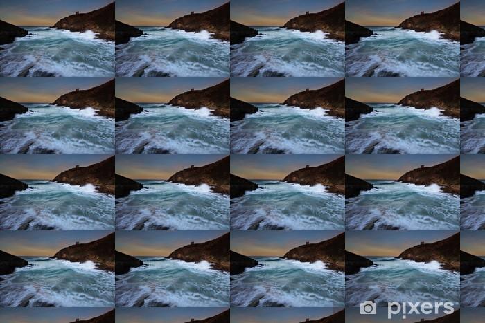 Papier peint vinyle sur mesure Playa de Santa Justa (Cantabria) - Vacances