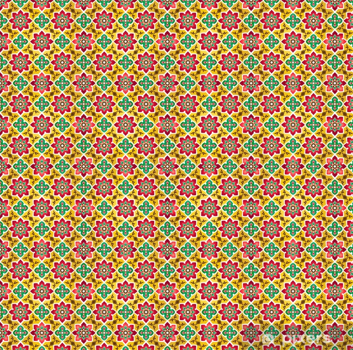 Traditional Islamic Pattern Wallpaper Vinyl Custom Made