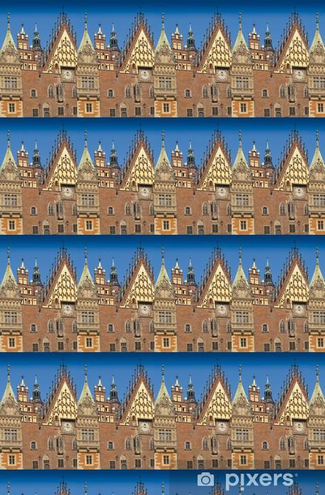 Papier peint vinyle sur mesure Fragment de la façade de Wroclaw Town Hall - Europe