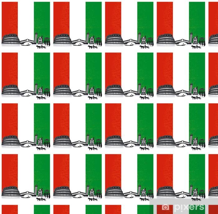 Papier peint vinyle sur mesure Italie avec le drapeau - Vacances