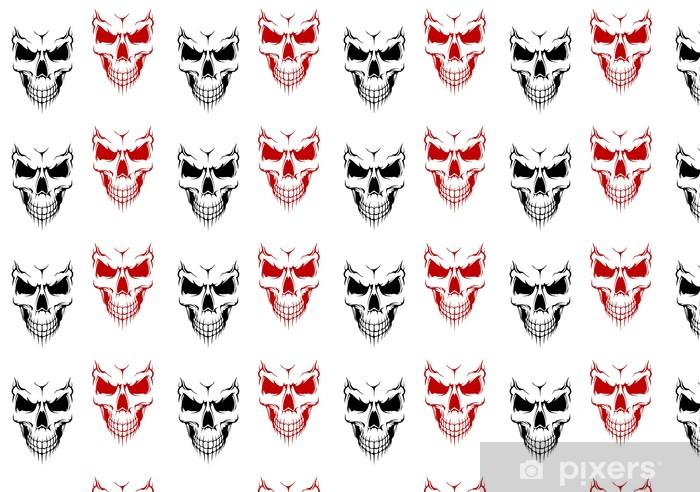 Papel de parede em vinil à sua medida Smiling skull - Vida