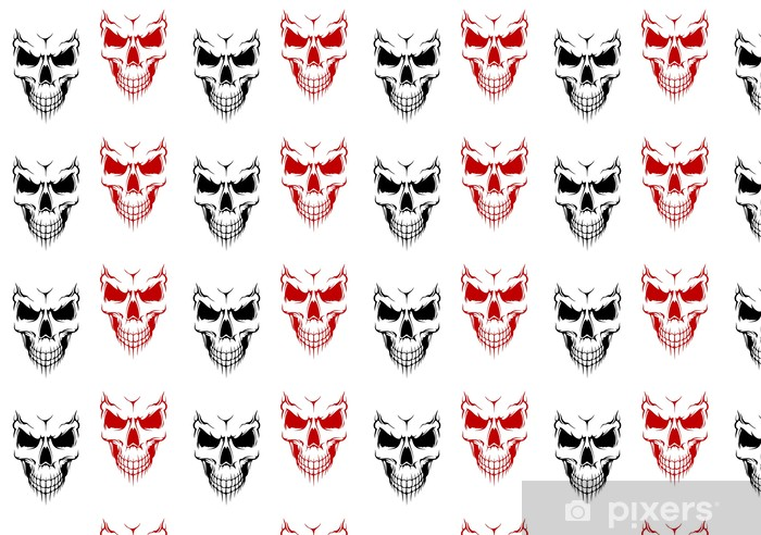 Smiling skull Vinyl custom-made wallpaper - Life