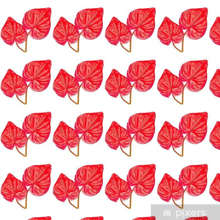 Papier peint vinyle sur mesure Deux feuilles rouges - Plantes