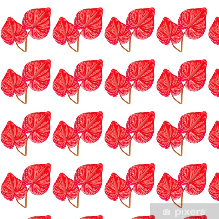 two red leaves Vinyl custom-made wallpaper - Plants