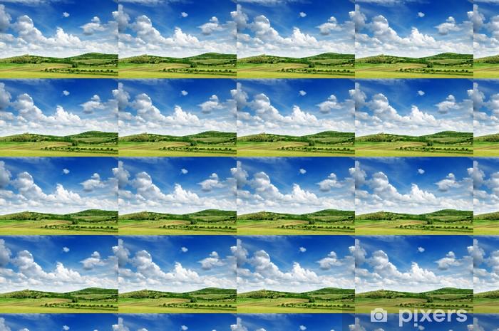 Papier peint vinyle sur mesure Le relief montagneux et le ciel bleu - Ciel