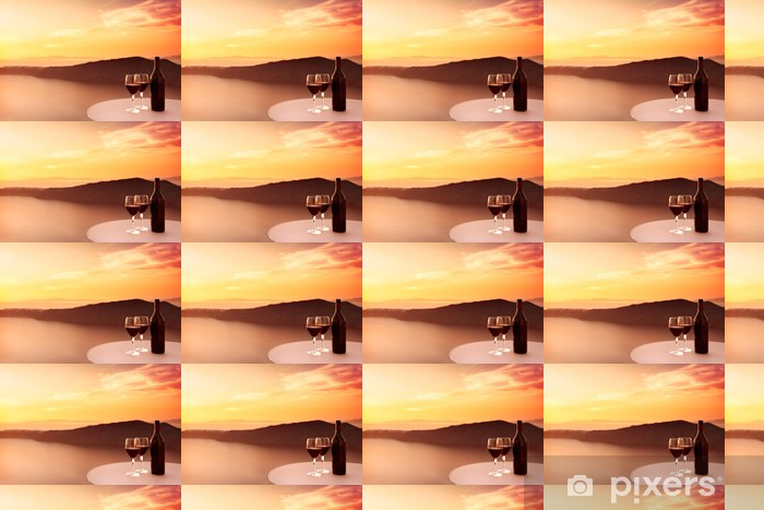 Papier peint vinyle sur mesure Sunset Red Wine - Thèmes