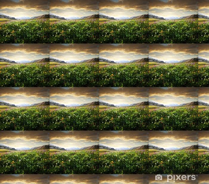 Tapeta na wymiar winylowa Górskie łąki - Rolnictwo