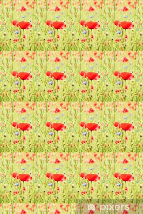 Tapeta na wymiar winylowa Mak czerwony kwiat natura - Kwiaty