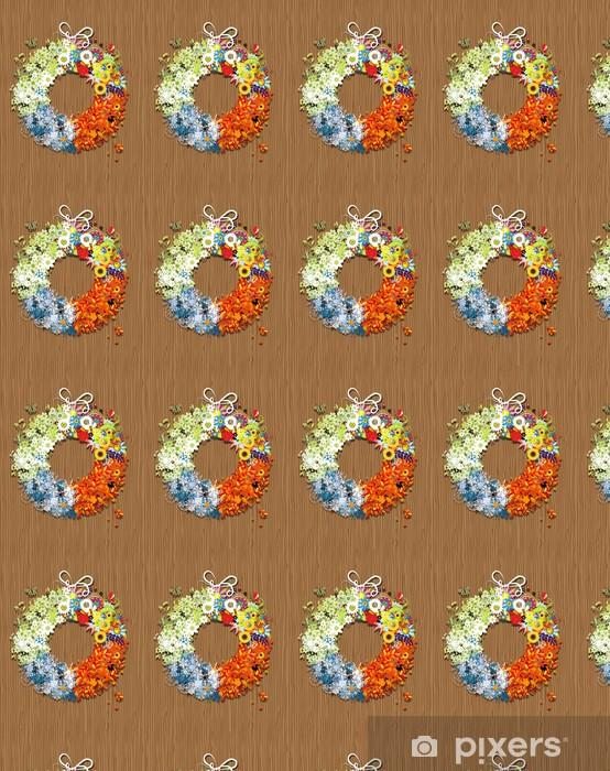 Papier peint vinyle sur mesure Quatre saisons châssis - printemps, été, automne, hiver. - Saisons