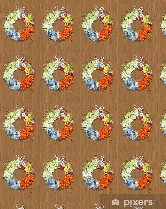 Four seasons frame - spring, summer, autumn, winter. Vinyl custom-made wallpaper - Seasons