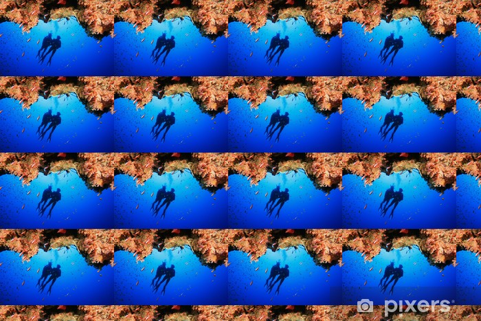 Tapeta na wymiar winylowa Płetwonurków zwiedzić rafę koralową - Sporty wodne