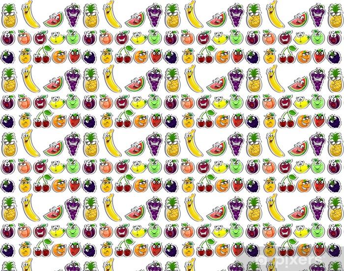 Papier peint vinyle sur mesure Fruits de bande dessinée - Fruits