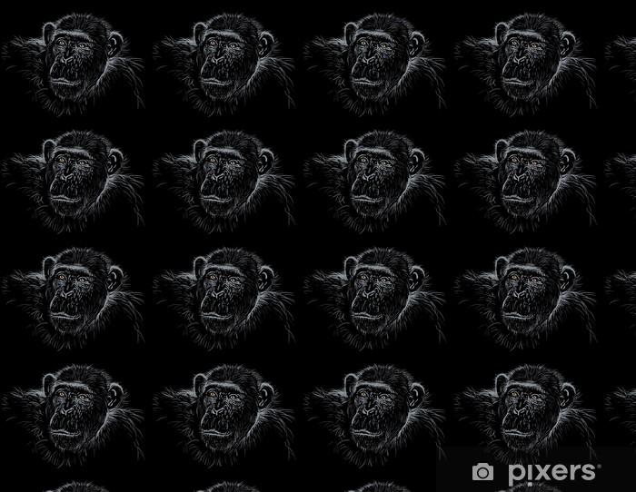 Papel pintado estándar a medida Chimpancé - África