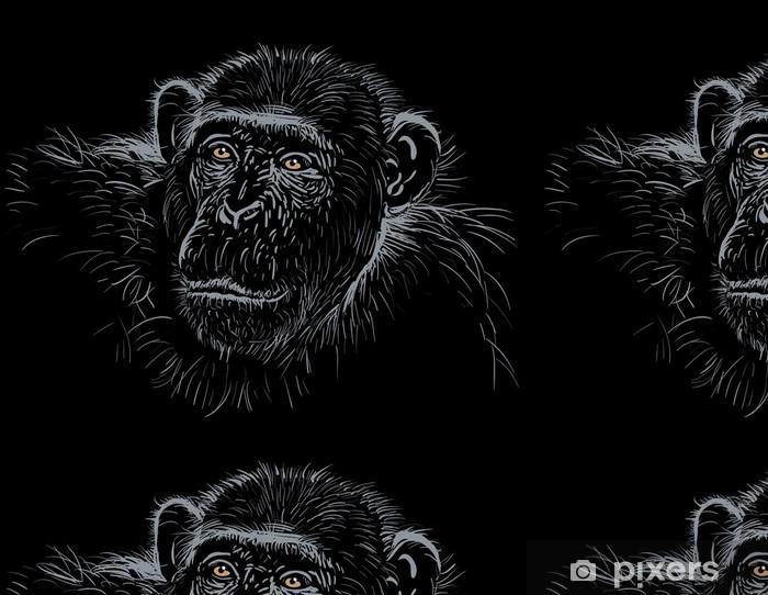 Vinylová Tapeta šimpanz - Afrika