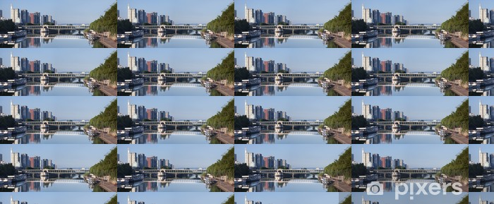 Papier peint vinyle sur mesure Pont Bir Hakeim Paris - Villes européennes