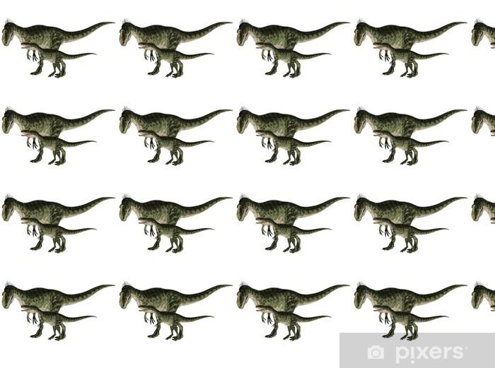 Vinylová tapeta na míru Adult and Young Monolophosaurus - Nálepka na stěny