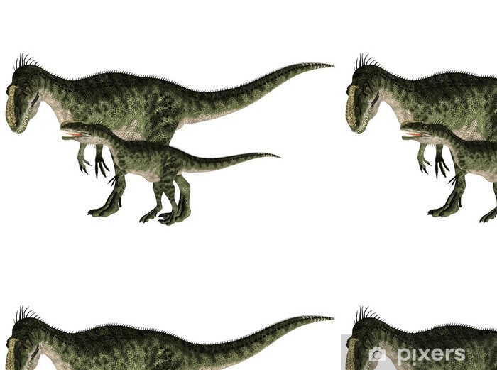 Aikuinen ja nuori monolifosaurus Vinyylitapetti - Seinätarra