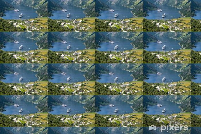 Vinyl behang, op maat gemaakt Geiranger fjord, Noorwegen - Thema's