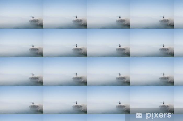 Papier peint vinyle sur mesure Phare de Gibraltar dans la brume - Vie