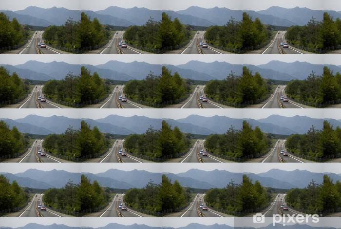 Vinyl behang, op maat gemaakt Road to Mt. Fuji, Hakone Nationaal Park, Japan - Azië