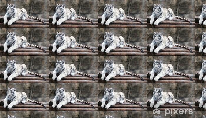 Papier peint vinyle sur mesure White tiger - Thèmes