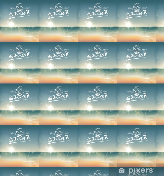 Papel pintado estándar a medida Say Hello to Summer, mensaje gráfico creativo. - Vacaciones