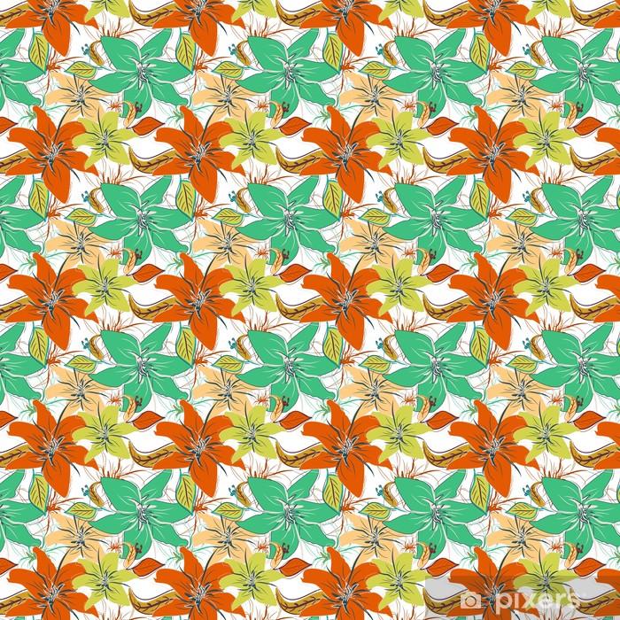 Tapeta na wymiar winylowa Powtarzalne kwiatowy wzór - Tła