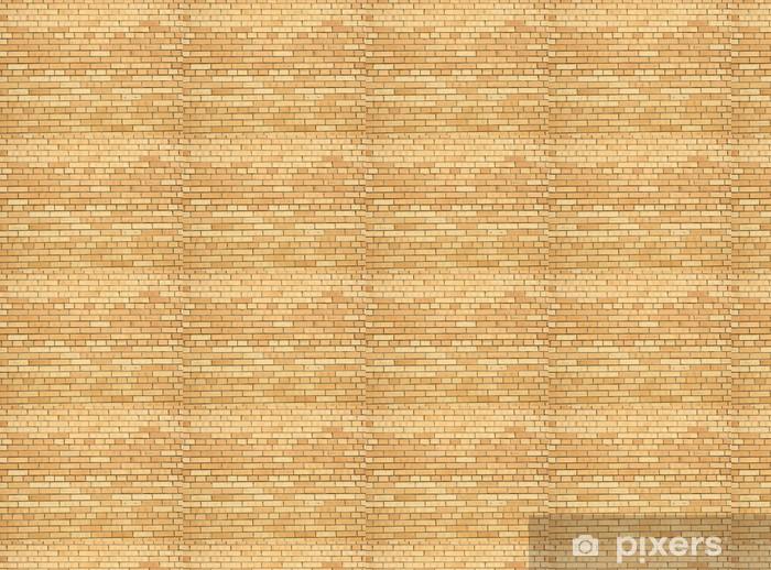 Carta da parati in vinile su misura La texture di mattoni gialli - Industria pesante
