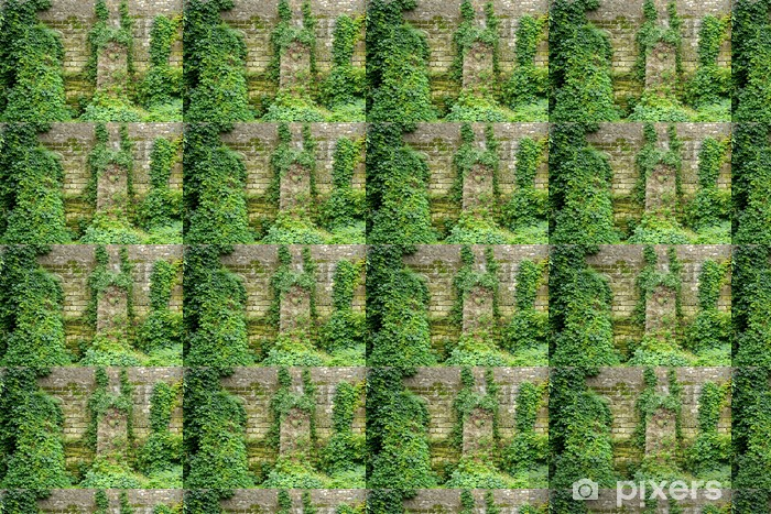 Old Stone Wall Overgrown With Ivy Wallpaper Vinyl Custom Made