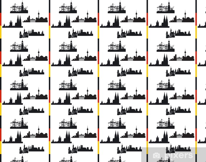 Papel pintado estándar a medida 4 ciudades de Alemania, Hamburgo, Berlín, Colonia, Múnich - Vacaciones