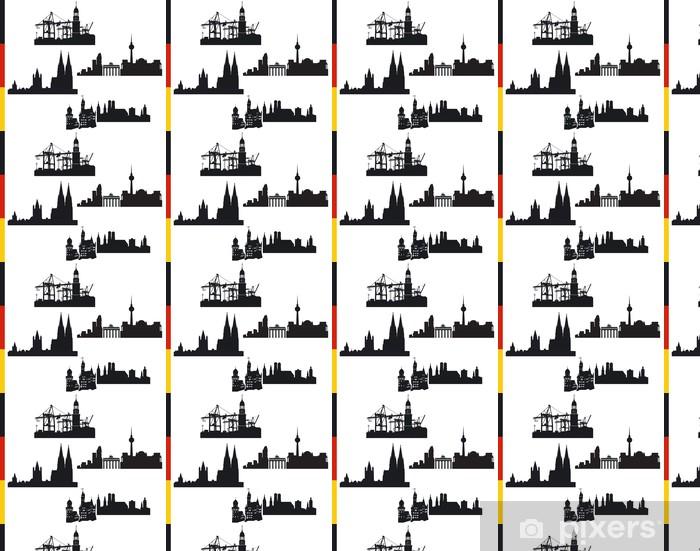 Papier peint vinyle sur mesure 4 villes allemandes, Hambourg, Berlin, Cologne, Munich - Vacances