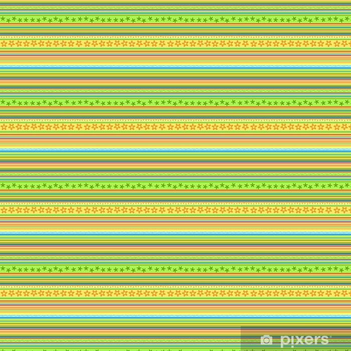Vinyl behang, op maat gemaakt Strepen patroon - bloemen naadloze achtergrond vector - Achtergrond