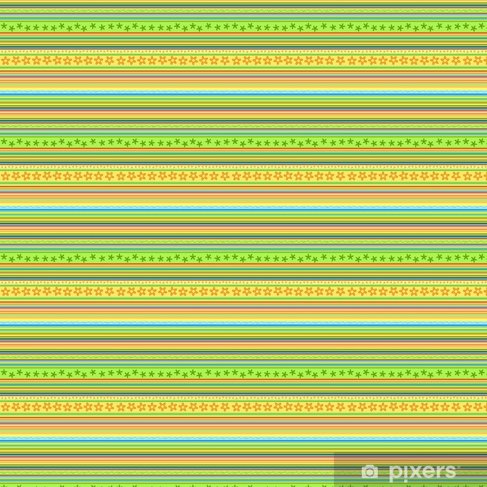 Papier peint vinyle sur mesure Motif Stripes - floral vecteur de fond sans soudure - Arrière plans