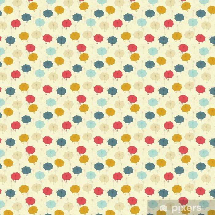 Seamless pattern with cute umbrellas. Vector illustration. Vinyl custom-made wallpaper - Themes