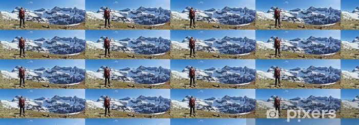 Tapeta na wymiar winylowa Panorama - Turystyka w górach - Sporty na świeżym powietrzu