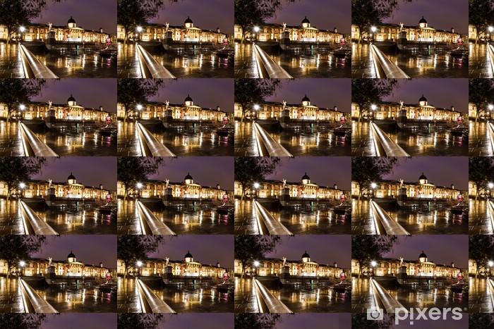 Vinyltapete nach Maß Nationalgalerie und dem Trafalgar Square in der Nacht, London, Referat - Urlaub