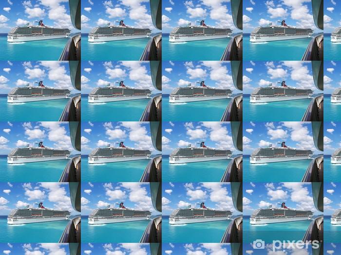 Papier peint vinyle sur mesure Cruise Liner - Vacances