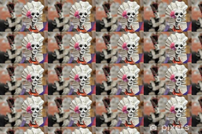 Papier peint vinyle sur mesure Mexicaine femmes squelette - Amérique