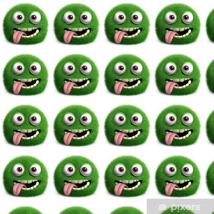 Tapeta na wymiar winylowa Zielony futrzany potwór - Inne Inne