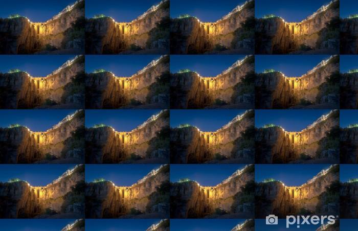 Tapeta na wymiar winylowa Nowy most w nocy, Ronda, Hiszpania - Tematy