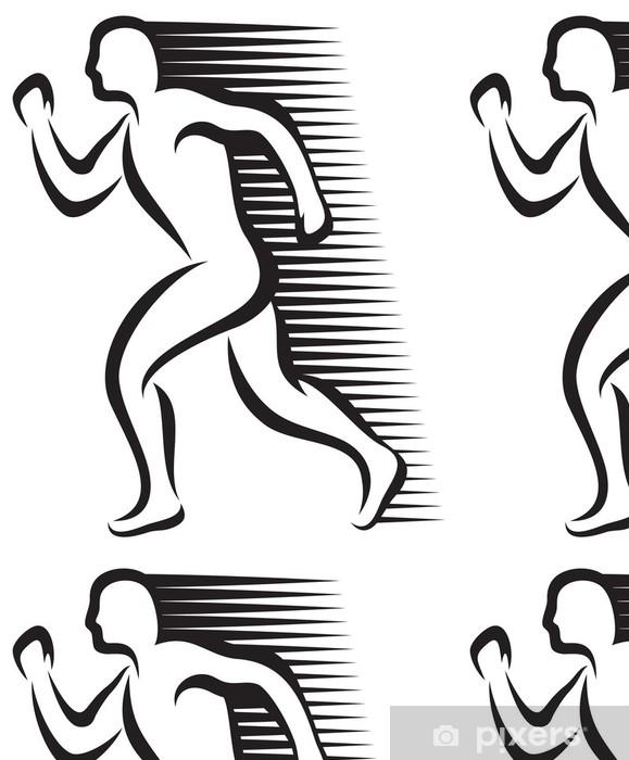 Vinylová Tapeta Abstrakt běžec - Pozadí