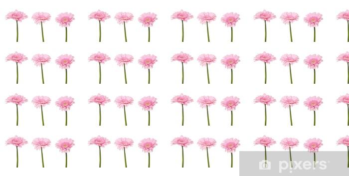 Papier peint vinyle sur mesure Gerbera rose - Fleurs