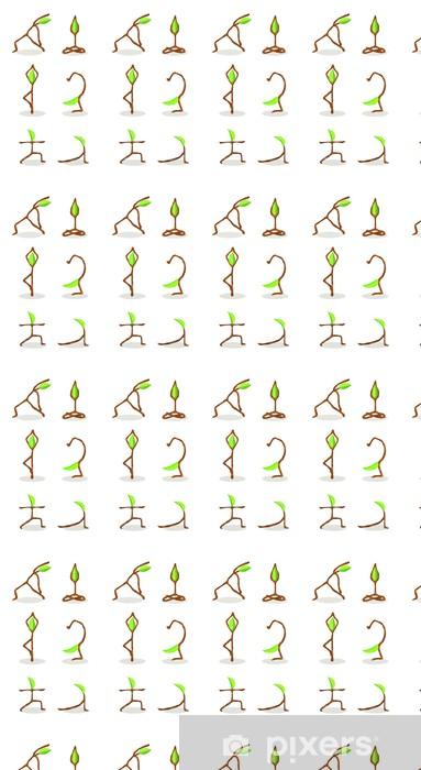 Papier peint vinyle sur mesure Bande dessinée de Tree of Yoga Position 2 - Sports individuels