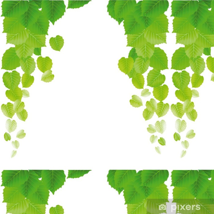 frische Blätter Vinyl Wallpaper - Plants