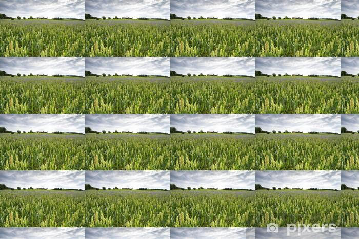 Papier peint vinyle sur mesure Bleuets dans un champ de blé, Bavière - Thèmes