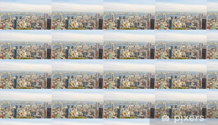 View of Tokyo from Tokyo Tower Vinyl Custom-made Wallpaper - Asian Cities