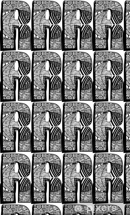 Tapeta na wymiar winylowa Litera R z abstrakcyjne rysunku. Ilustracji wektorowych - Inne uczucia