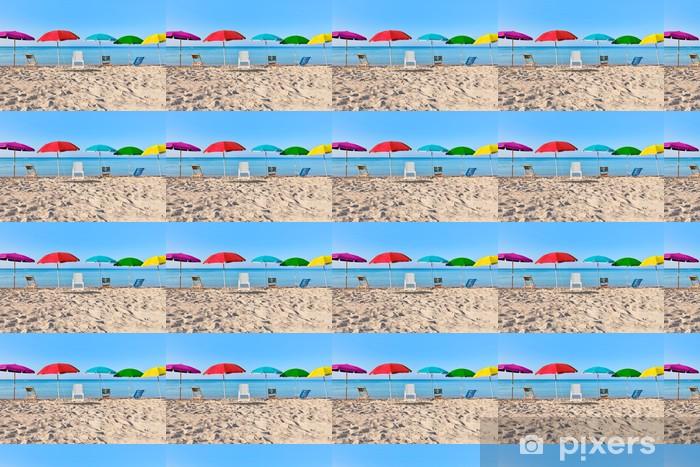 Papier peint vinyle sur mesure Vacances colorées - Vacances