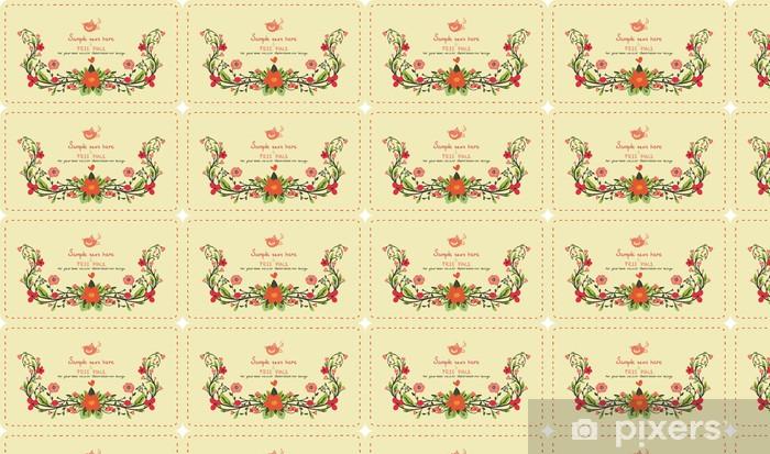 Tapeta na wymiar winylowa Karta zaproszenie z kwiatami - Znaki i symbole
