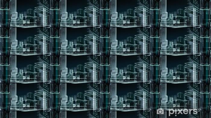 futuristic megalopolis6 Vinyl custom-made wallpaper - Styles